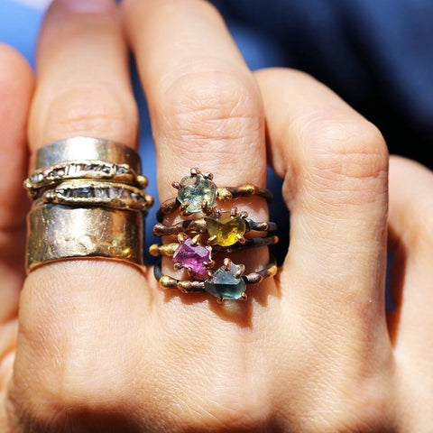 Variance Objects_Gemstone Rings_Gold Bands