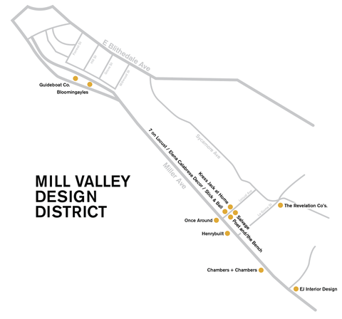 Mill Valley Design District Poet and the Bench Jewelry Art Home Decor