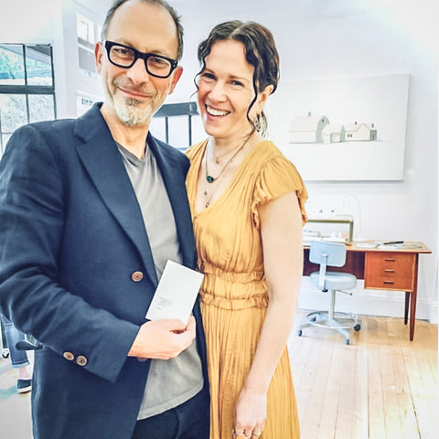 Founders Curator Bonnie Powers and Goldsmith Jeffrey Levin of Poet and the Bench