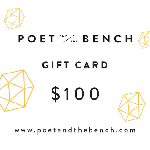 Still We Rise Poet and the Bench Gift Card