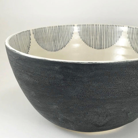 Still We Rise Julems Ceramic Serving Bowl Scallop Design
