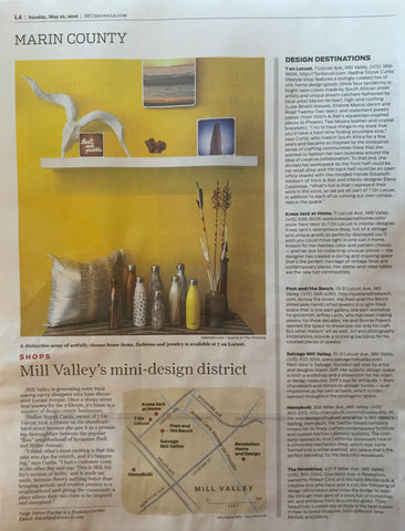 Poet and the Bench_San Francisco Chronicle Design Destination Mill Valley