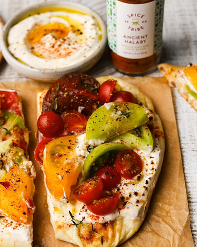 Spice Tribe Ancient Halaby Spiced Tomato Toasts