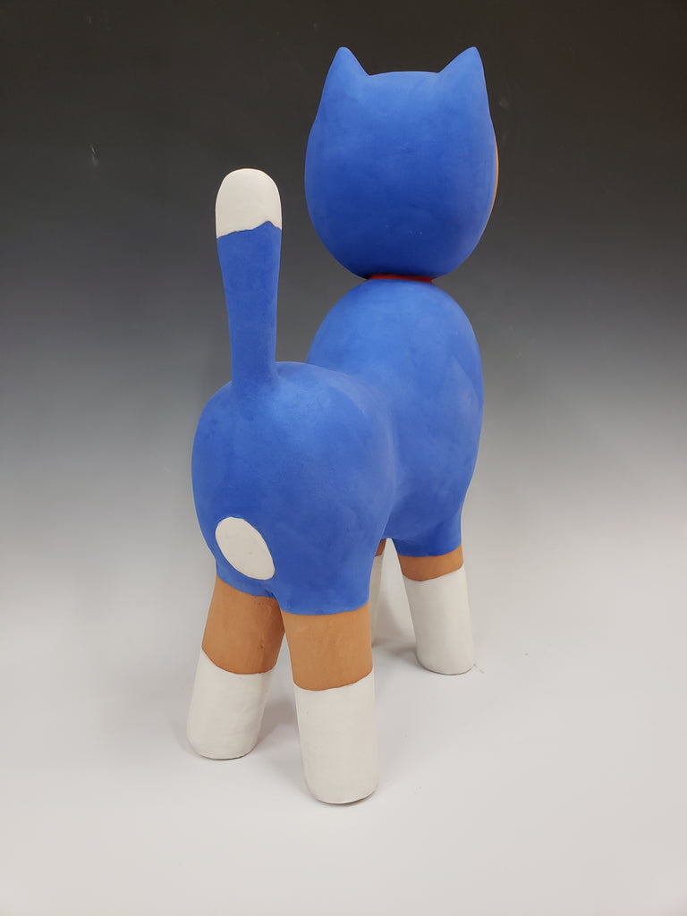Austyn Taylor Tom Cat Ceramic Sculpture back view