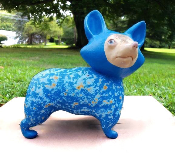 Blue Space Dog by Austyn Taylor. Fear of commitment is a non-issue with this dog. He needs love and a good home.