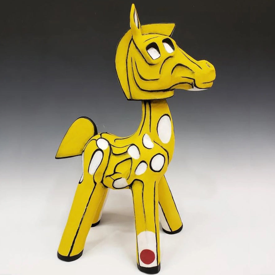 Austyn Taylor Modern Horse Ceramic Sculpture inspired by Mondrian and Picasso