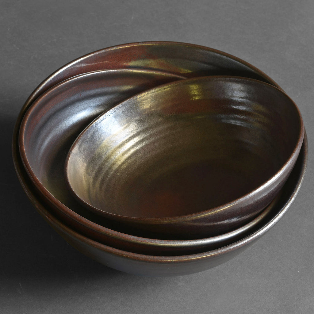 Bob Dinetz / Ceramics / Bowl / Low Serving 12