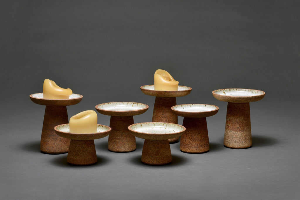 Bob Dinetz Ceramic Candle Stands Group