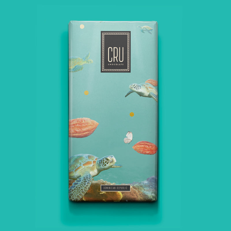 Cru Chocolate Award Winning Cacao Chocolate Bar with Cacao from the Dominican Republic.
