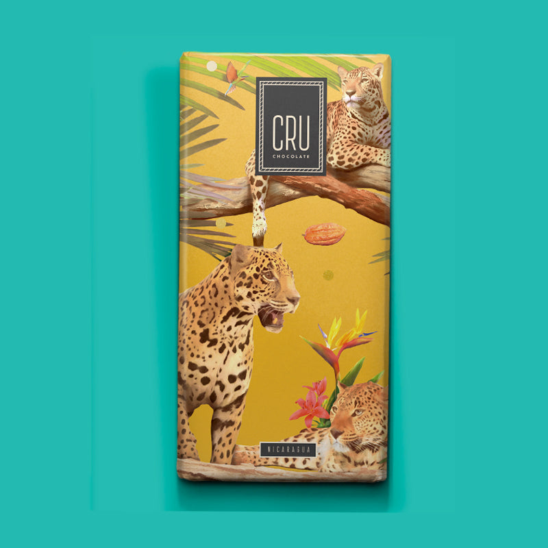Cru Chocolate makes the Nicaragua Bar with cacao from the nation of poets and soulful emotions. This carefully handcrafted Nicaraguan bar expresses the cacao's earthy, bittersweet flavors, spotted with hints of spiced herbs and caramel.