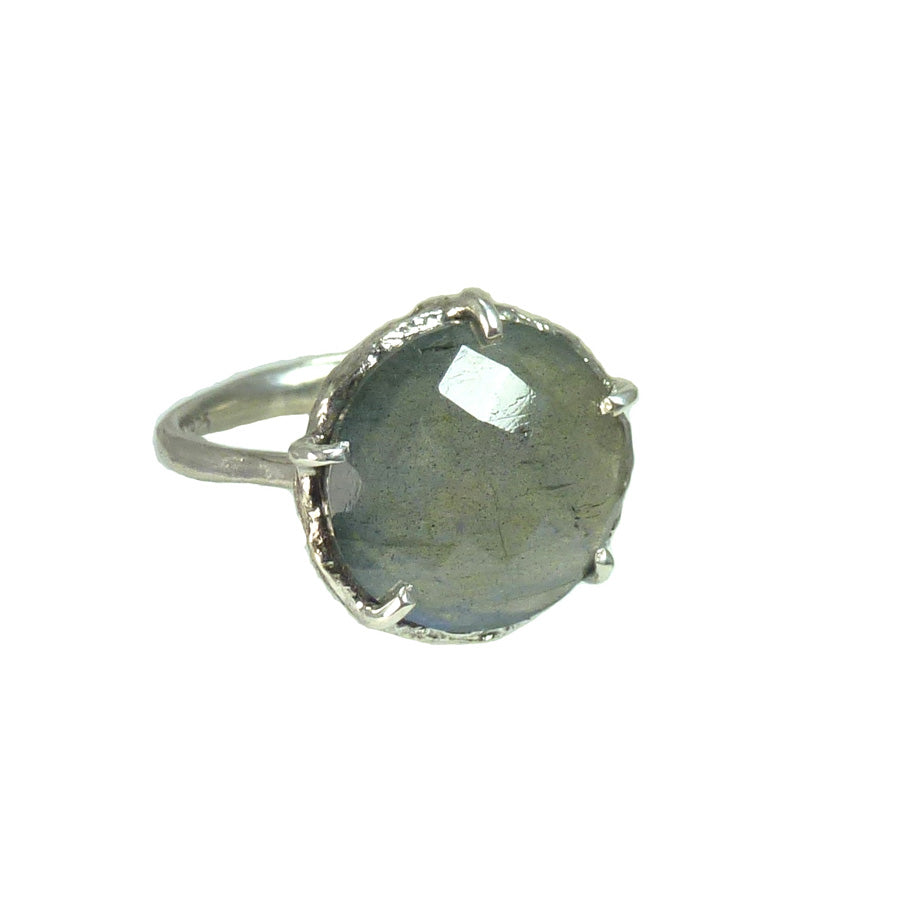Labradorite stars in Danielle Welmond's signature vintage silver lace-like textured setting