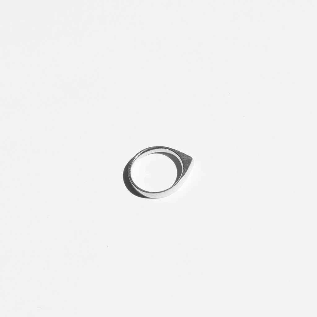 Ende Collective Mini V ring is petite on its own and stunning stacked together. Shown as a single.