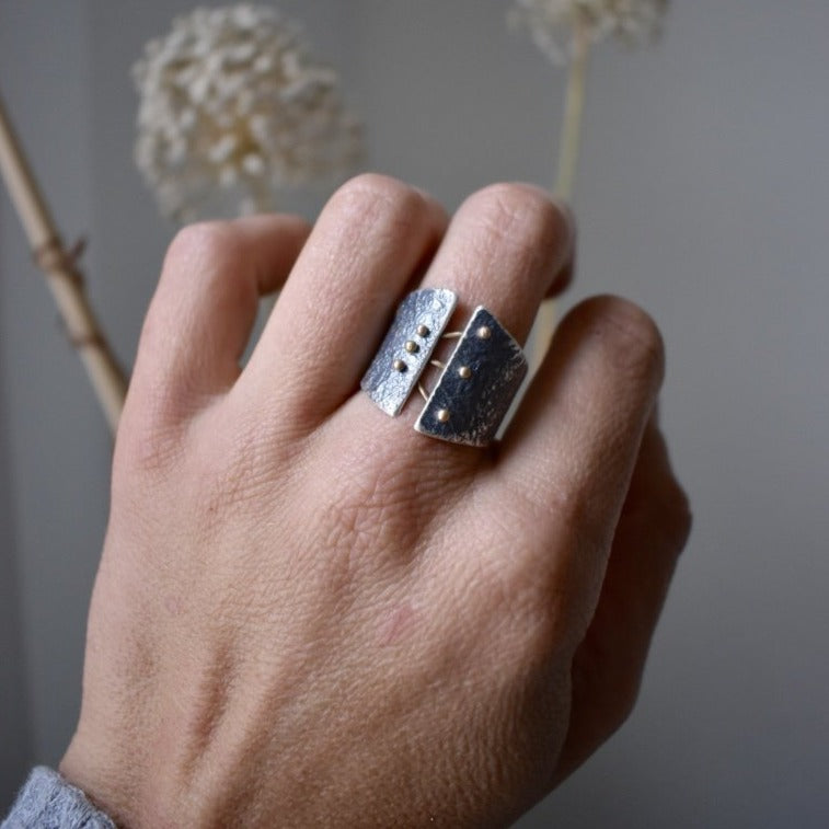 Esther Metals Binding Light Ring is a reminder of the light that keeps us together when we are torn apart.