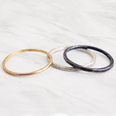 We love stacking rings and mixing metals, so does Esther. This set is the perfect blend and can be worn together or added individually to your current rotation.