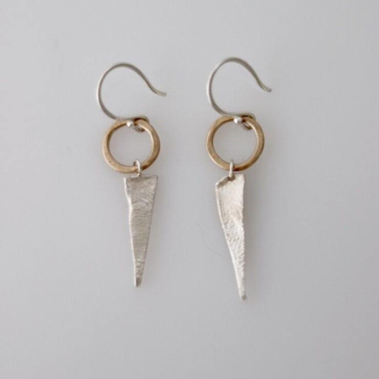 We love how the gold details in Esther Metals Summer Solstice earrings pop in contrast to the oxidized silver.