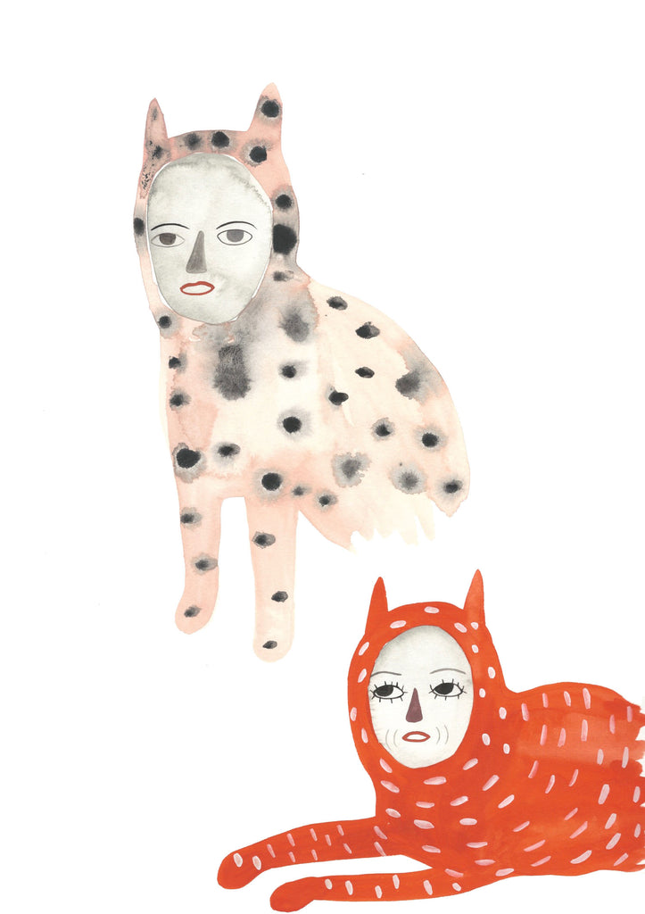 Grace Estrada Cats Painting, sold unframed.