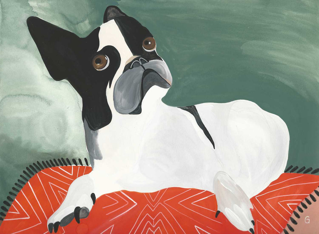 Noile the Dog by Grace Estrada sold unframed.