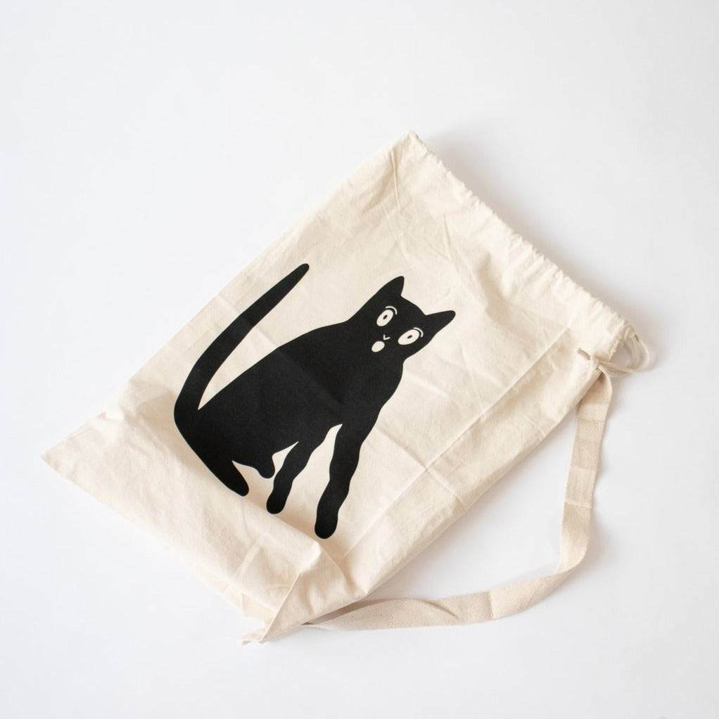 Grace Estrada Black Cat Duffle or Tote Bag
