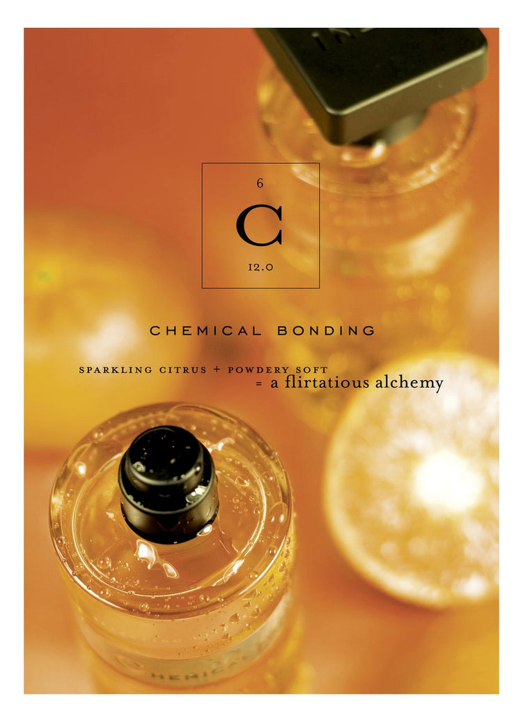 Ineke Chemical Bonding playfully juxtaposes Chemistry 101 principles with human attraction. The musky scent is layered with citrus notes and a powdery soft base, resulting in a flirtatious alchemy.