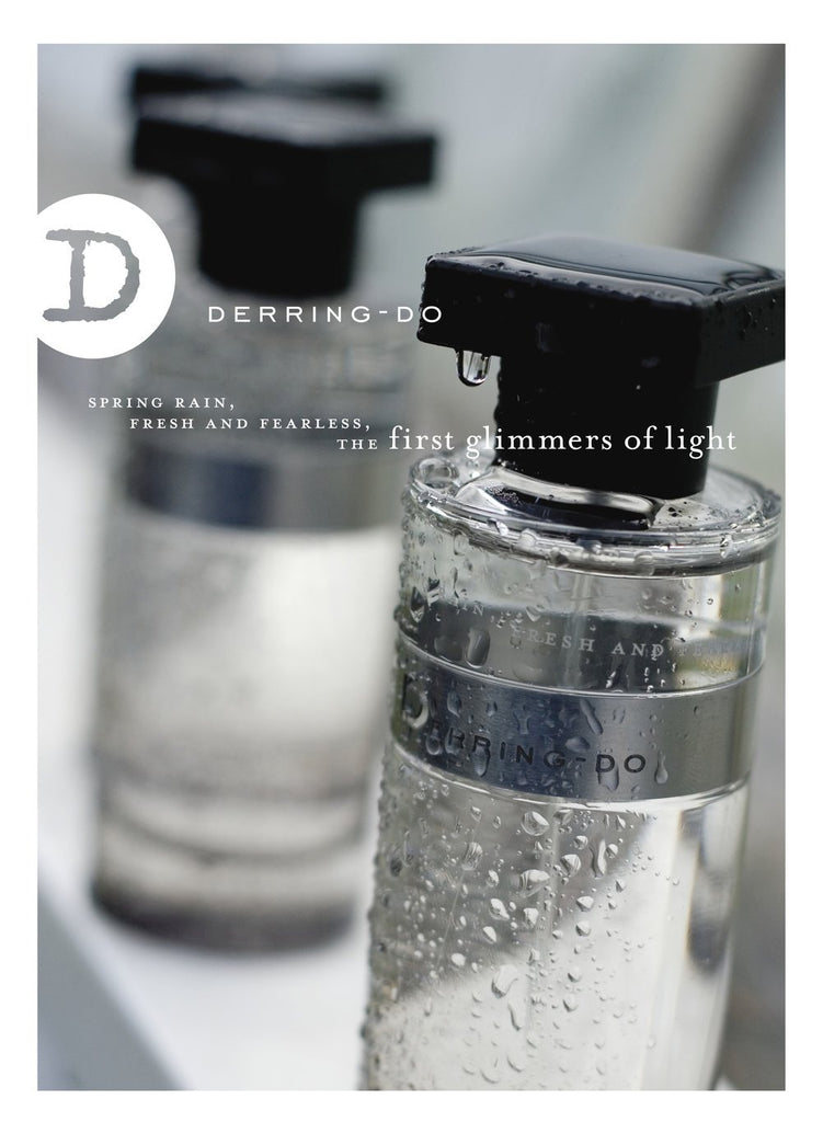 Ineke Derring-Do is a darkly romantic unisex fresh fougère fragrance evoking spring rain. An ode to the literary rogue, Derring-Do is the Old English term for daring, with its requisite chivalry.