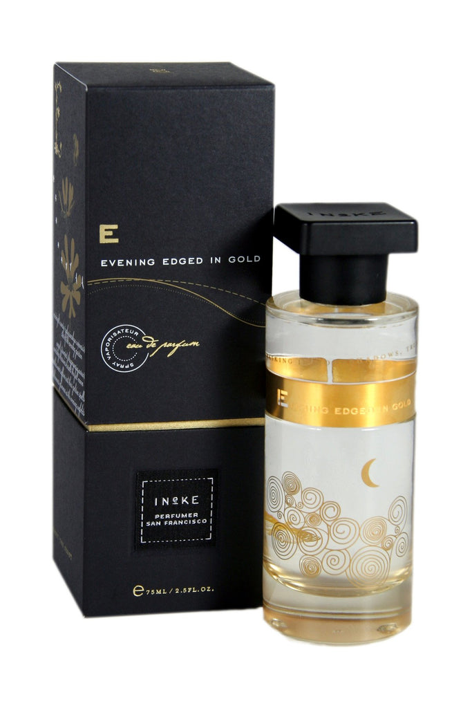 "Ineke Evening Edged in Gold features the sensual warmth and opulence of night-scented flowers. A perfect fragrance for sparkling soirées in any season. This ""woody oriental"" composition opens with bright top notes of plum and gold osmanthus, spotlights the night bloomers Angel's Trumpet and Midnight Candy, and closes with rich base notes of saffron, dark woods and leather."