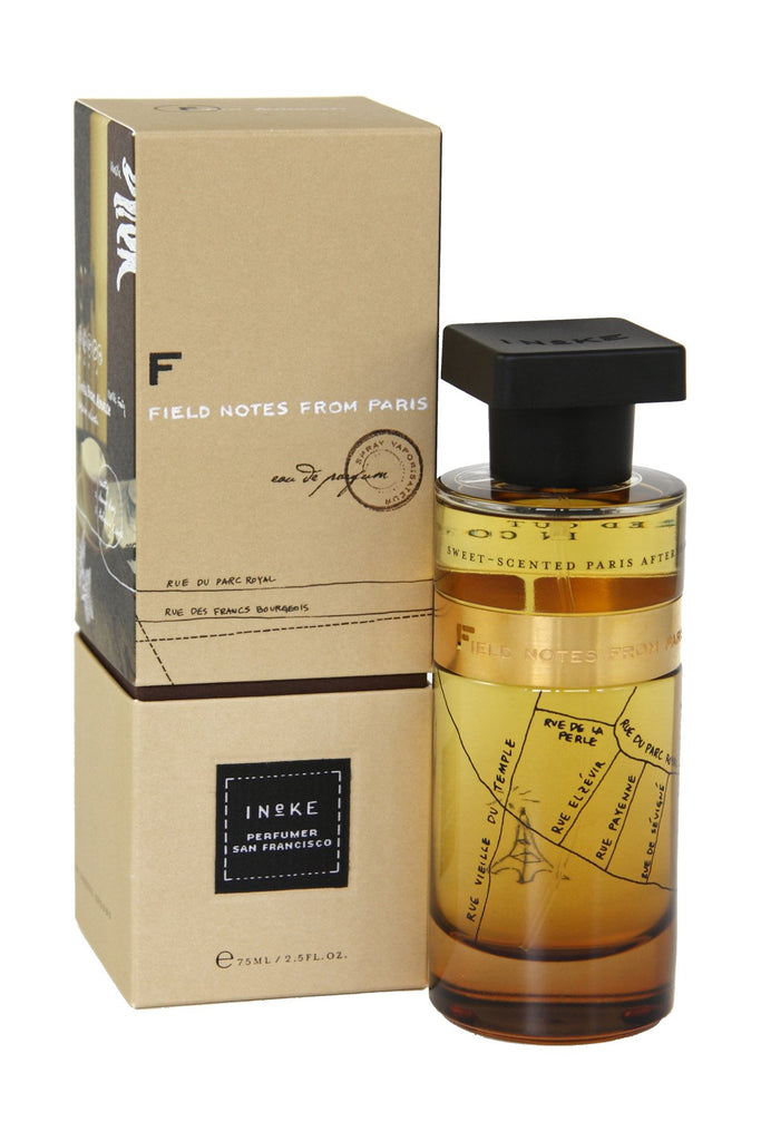 A gorgeous unisex scent, Ineke Field Notes from Paris is inspired by Ineke's halcyon days studying perfumery in Paris and Versailles. It captures the romantic, nostalgic feeling of sitting at a café and writing in a journal while lingering for hours over a cafe crème.