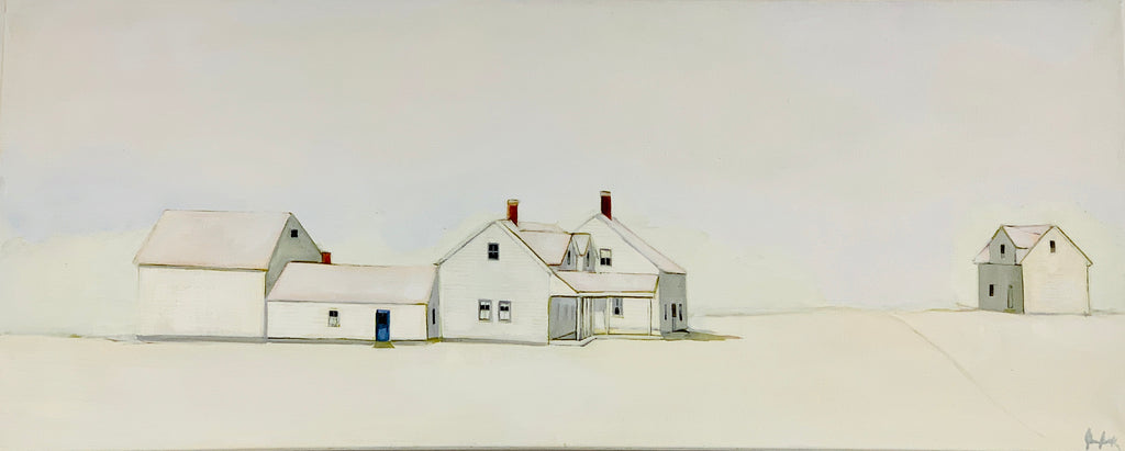 Jean Jack's Quintessential Farmhouse #1 is a stunning, inviting example of her pale, refined palette.