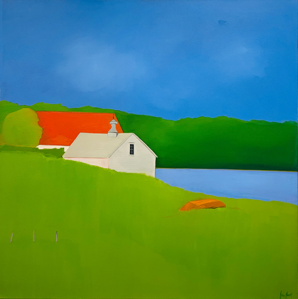 Jean Jack's Watching conveys a sense of place in its vibrant, rich color palette, that you want to step into and experience.