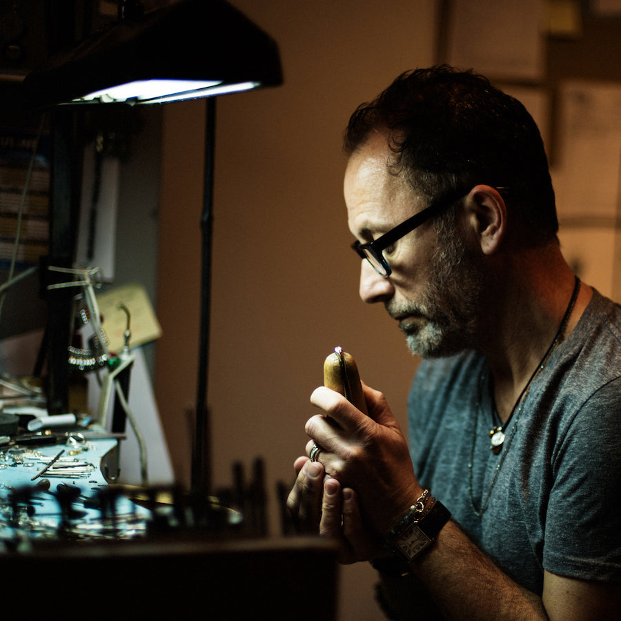 Book a consultation to learn about working directly with Poet and/the Bench co-founder and in-house goldsmith Jeffrey Levin