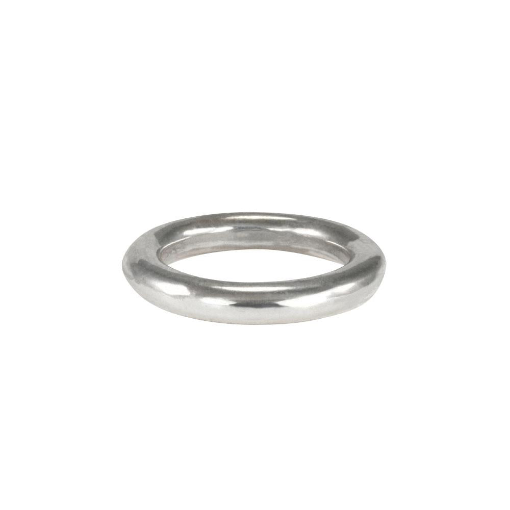 Stunning layered or alone–goes with everything, thick round stacking rings by jewelry designer Jeffrey Levin. Mixed metals available in sterling silver; 14k yellow, white or rose gold; or platinum.