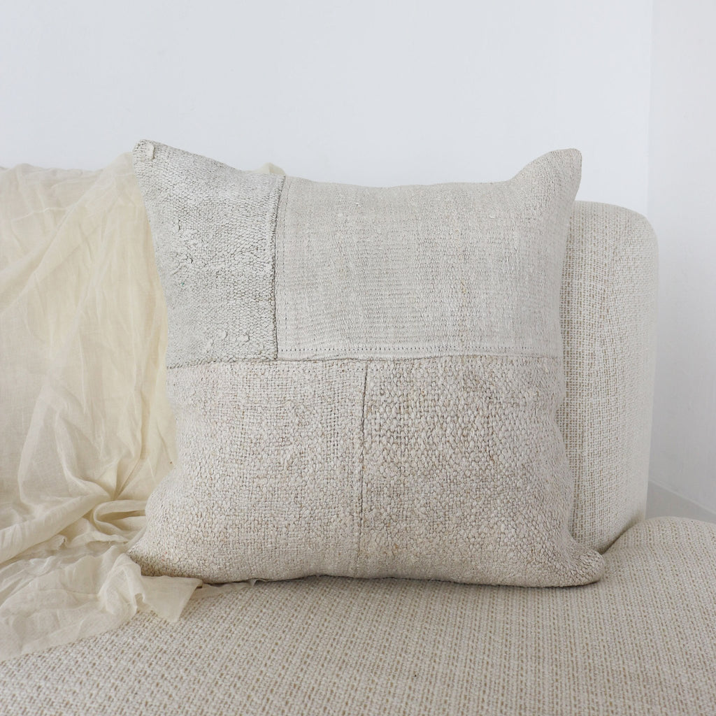 The subtle details of this hand sewn Segment pillow bring texture in form and tone.
