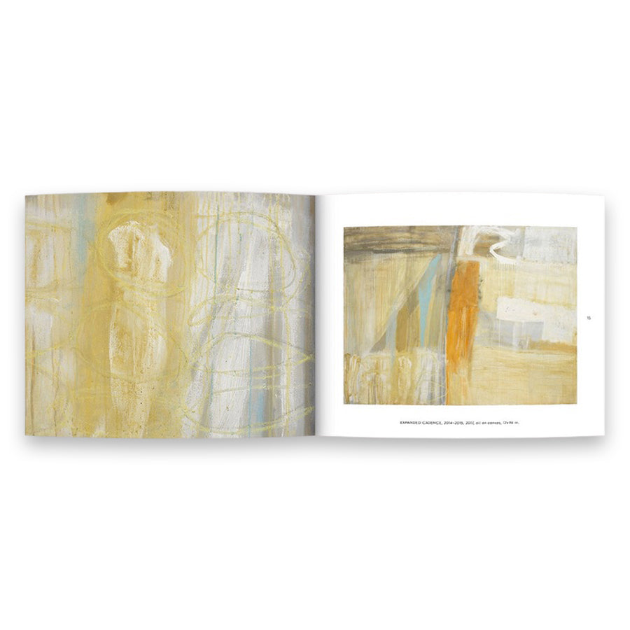 Laura Roebuck, Paintings 2009–2019. A beautifully designed and printed catalog featuring 10 years of work of Laura's artistic pursuit in abstract, gestural paintings. Catalog Spread 2