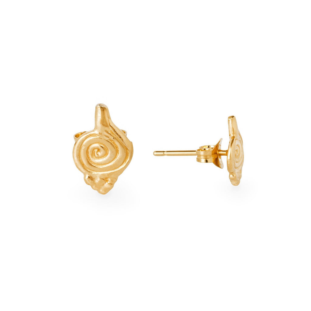Loren Lewis Cole_Vortex Earring Studs shown front and side.