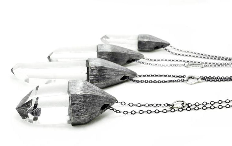r jewelry, like these crystal necklaces with their structural density. Crystal Home design group of necklaces featured.