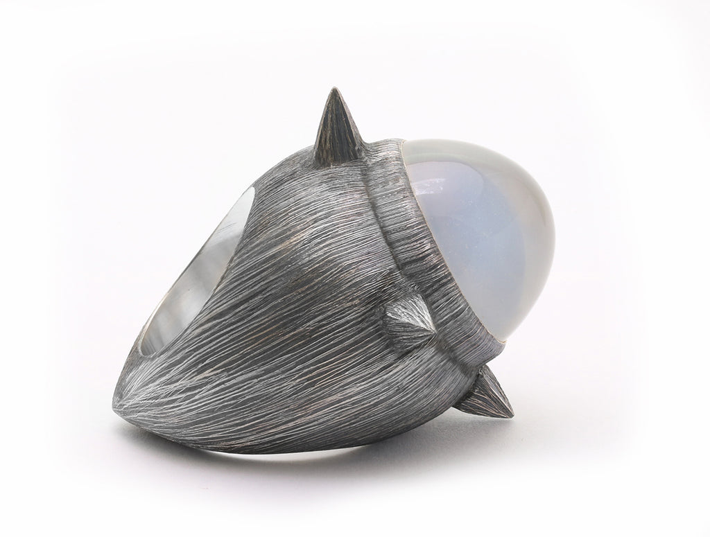 Side view of Four Direction Crystal Ring by Mariella Pilato