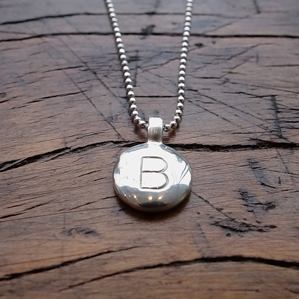 Jeffrey Levin / Necklace / Medallion with Initial