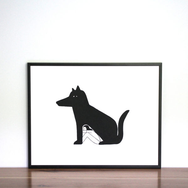 Pay homage to your best friend with this Dog Days illustration screen print.