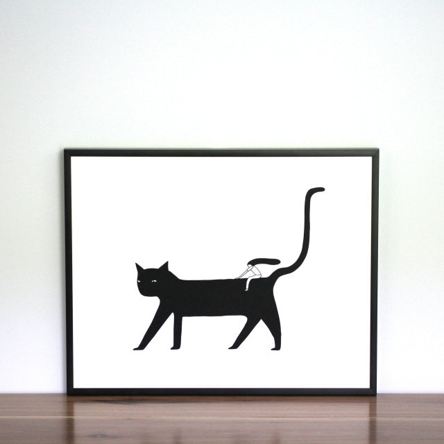 There are many ways to get where you want to go...be adventurous with this cheeky Cat Ride screen print of Melissa's original illustration.