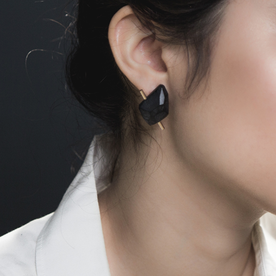 These Lucite Rock earrings by Olivia Shih will be your fave go to for everyday elegance with a pop of edge!