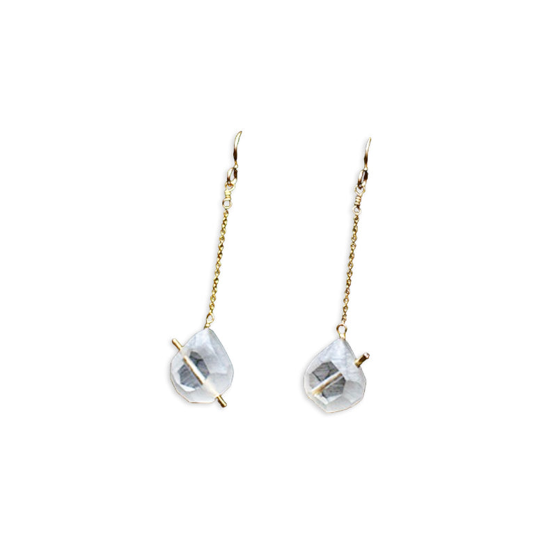 Olivia Shih Lucid Teardrop Earrings resemble gems in hand carved acrylic.