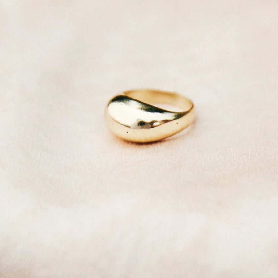 Brass Serafina Ring. Part of the Roam Vintage Jewelry Collection.