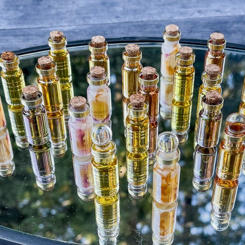No 11 Botanical Perfume Oil by S+M Fragrances x Poet and the Bench in Egyptian Blown Glass Vials