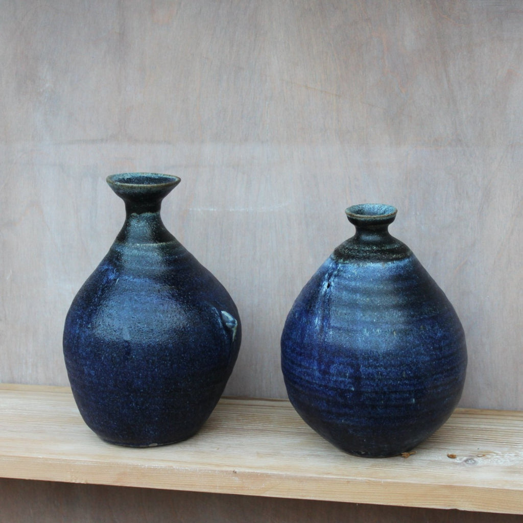 Sisters Ceramics / Ceramics / Vase / Blown Series Black and Blue