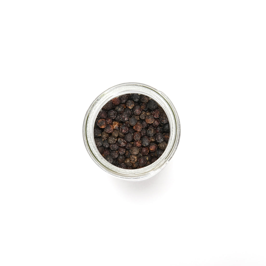 Spice Tribe Late Harvest Black Peppercorns in raw form