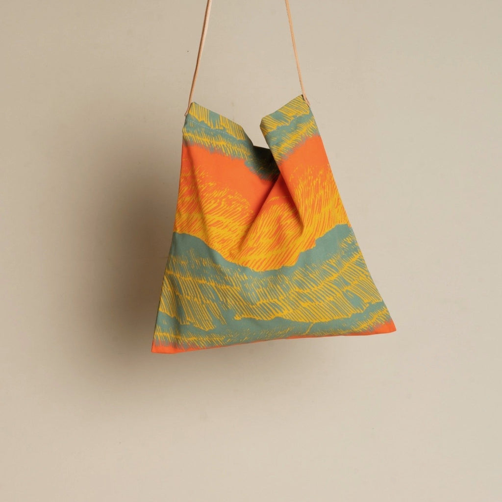 Carry the color of the seas and sun with you and save the planet... tote bags instead of plastic bags! Designed by Japanese fine artist and textile designer UG. Angel Island Spring
