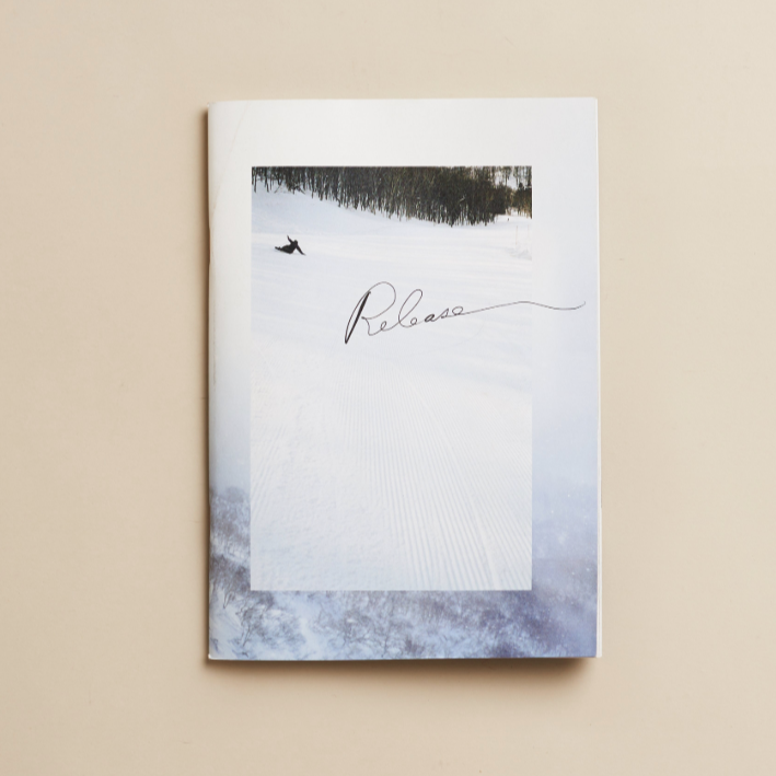 'Release' is a portrait of the Gentemstick family in Hokkaido known for their snowsurf boards; vignettes by Rob Schanz, Max Houtzager, and Amado Stachenfeld. Features snowboarding, surfing and portraits. Part of a trio of Zines, including See the hand, alluring recipes for fall, and Assembly of Points, a stunning photographic essay.