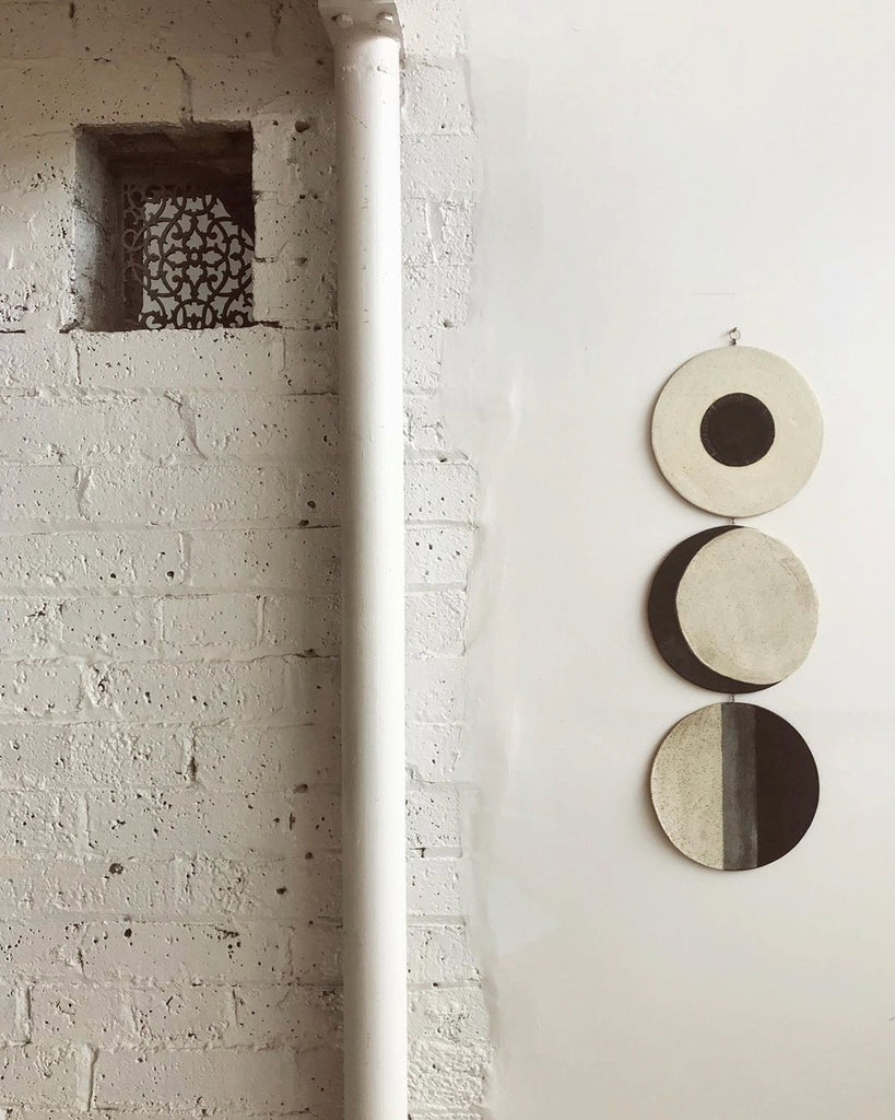 Moon Phases Ceramic Wall Hanging by Whitney Sharpe of The Latch Key.