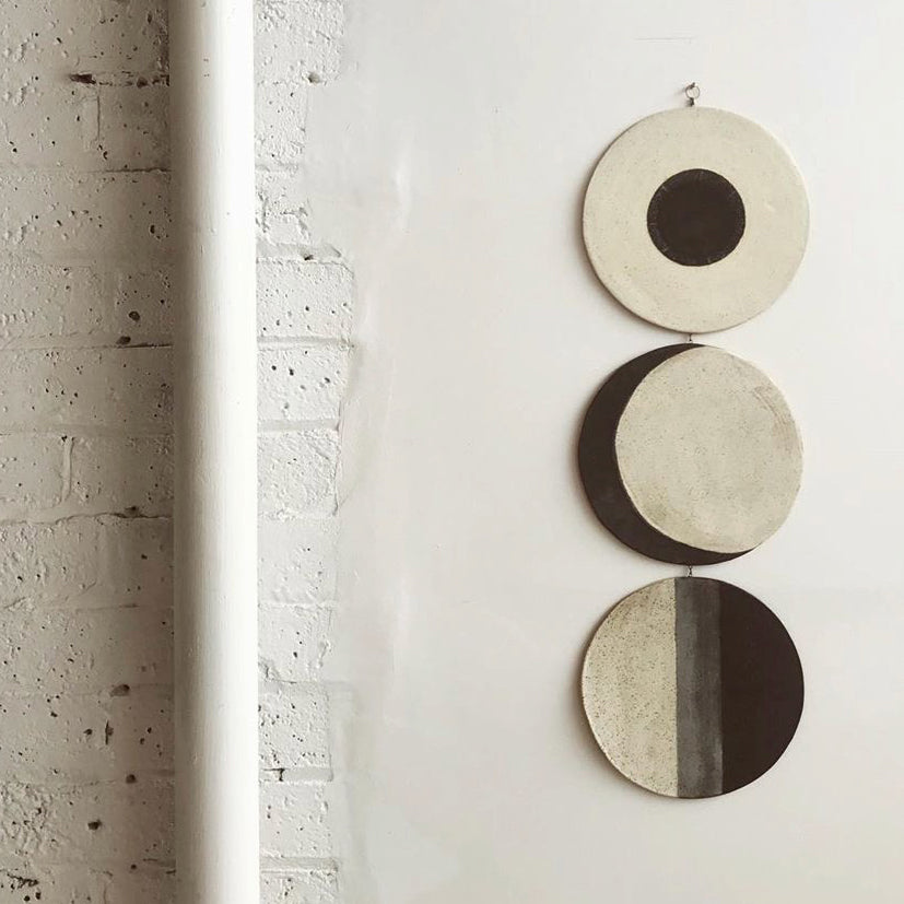 The Cycles in Life are a theme that Whitney Sharpe of Latch Key refers to in her work. Here in Moon Phases.