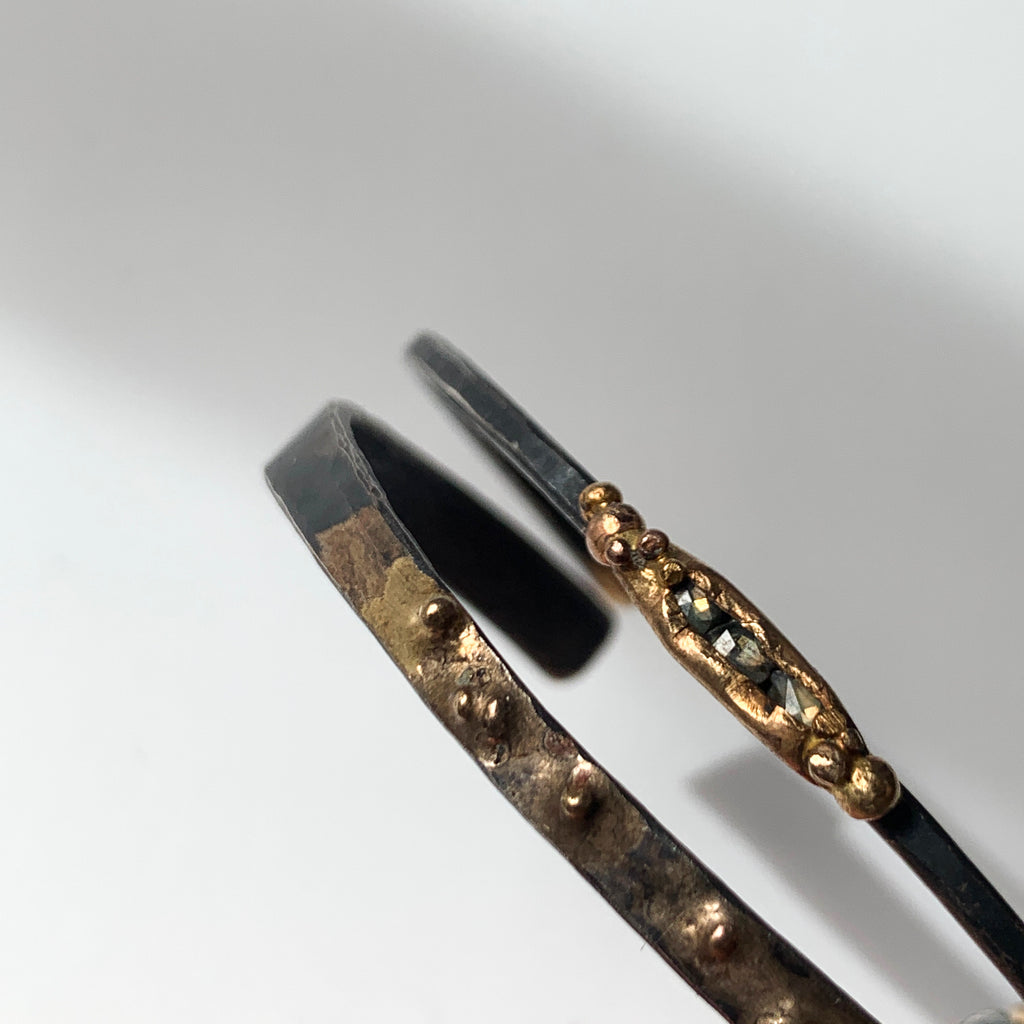 Pair this Variance Objects mixed metals cuff for an edgy addition to your wrist stack. Looks stunningly sublime on its own and with other Variance Objects cu