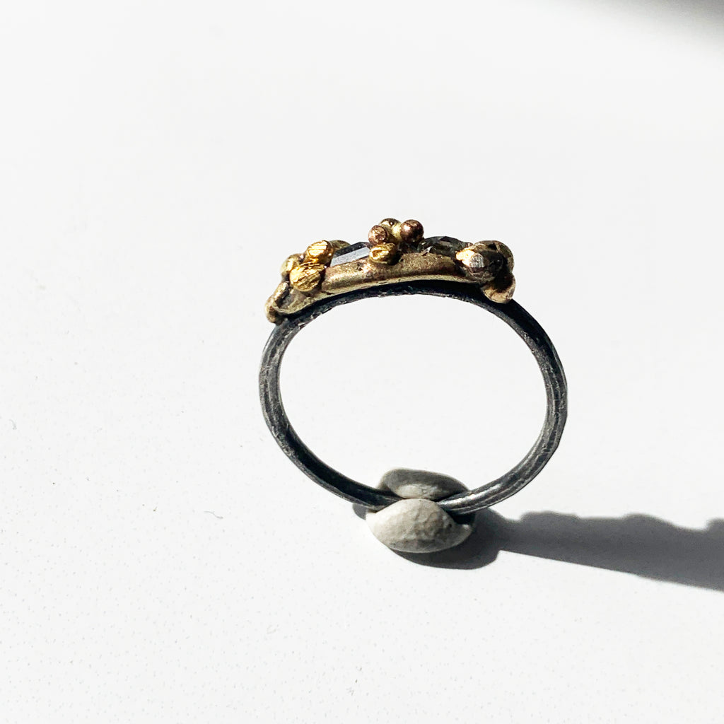 Stacking ring. Alternative bridal and engagement band. Or just super sublime on its own. Pairs in the most stunningly edgy and romantic ways with other Variance Objects rings and bands.